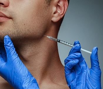 person receiving a BOTOX injection